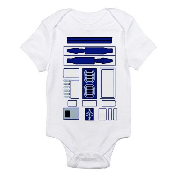 R2D2 Onesie Star Wars baby infant bodysuit via Etsy