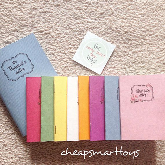 Coloful Handmade notebooks Personalized by cheapsmarttoys on Etsy