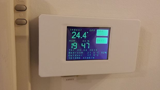 Esp8266 Wifi Touch Screen Thermostat Discover More Ideas