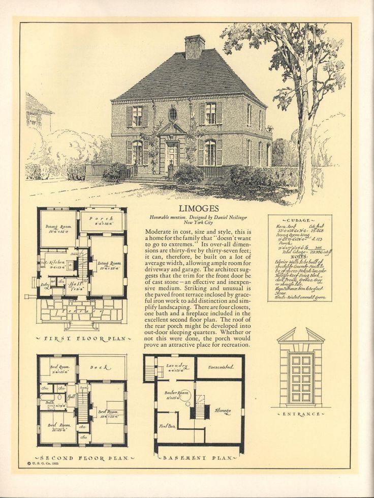 119 best Floor Plans images on Pinterest | Vintage homes, Vintage ...