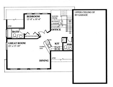 Floor Plans For Retirement Home With Rv Garage on porch designs for mobile homes