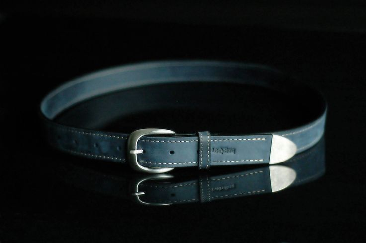 Leather Belt, Handmade, Belts, Navy Blue by ladybuq on Etsy