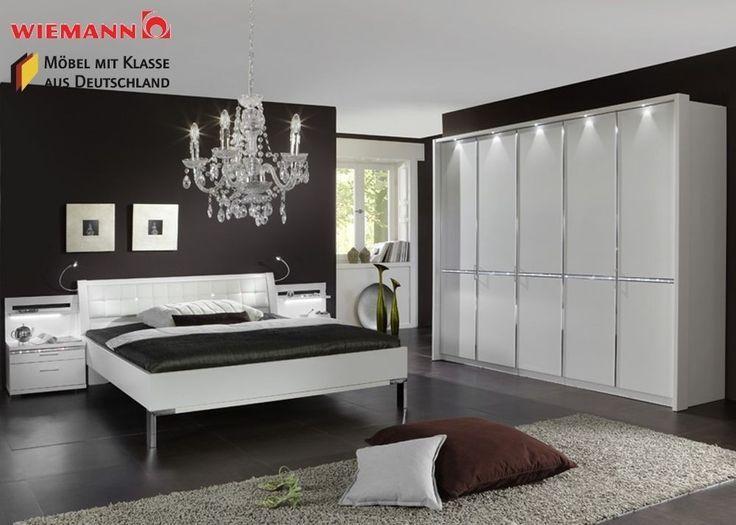 Schlafzimmer komplett Holz Weiß Kristall Neu 3768. Buy now ...
