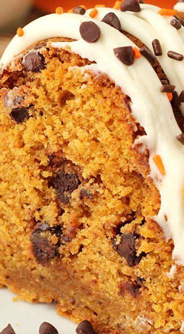 Pumpkin Chocolate Chip Bundt Cake