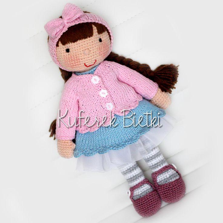 Jasmin, lalka na szydełku /Jasmin, Gehäkelte Puppe (34 cm)
