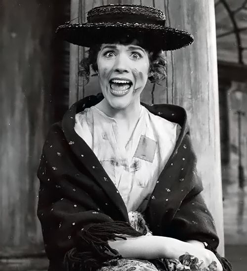 Julie Andrews during a photo session for'My Fair Lady', 1956. ☚