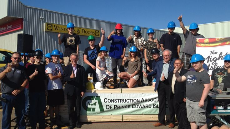 PEI: A project titled Team Construction is receiving $1.2 million in funding from the federal government and the province to introduce 80 Island youth to the construction industry on P.E.I.