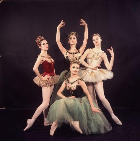 New York City Ballet - Studio photo of (L-R) Patricia McBride, Violette  Verdy