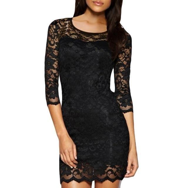 2018 outono natal dress mulheres bodycon lace dress mini clubwear vestidos de senhoras magro ol elegante vestidos de festa vestidos femininos   – Products