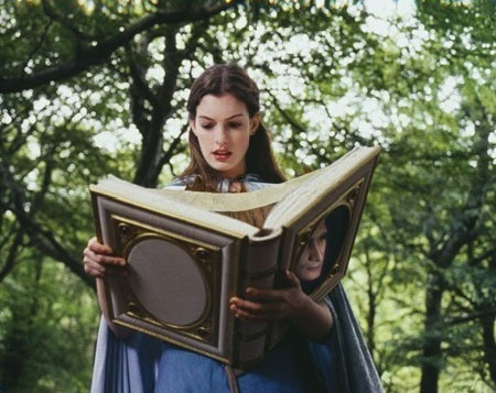 In Ella Enchanted (2004) with her talking book. This is a really cute movie!