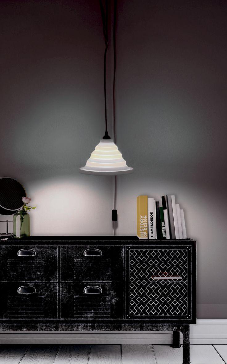 Abat-jour en silicone gris