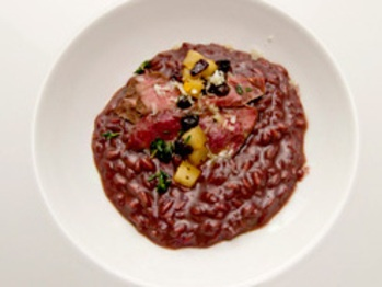 Amarone Risotto with Lamb Heart