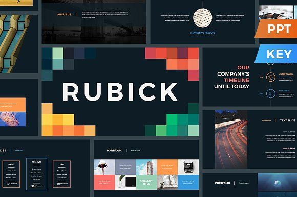 Rubick Presentation Template by SlideStation on @creativemarket