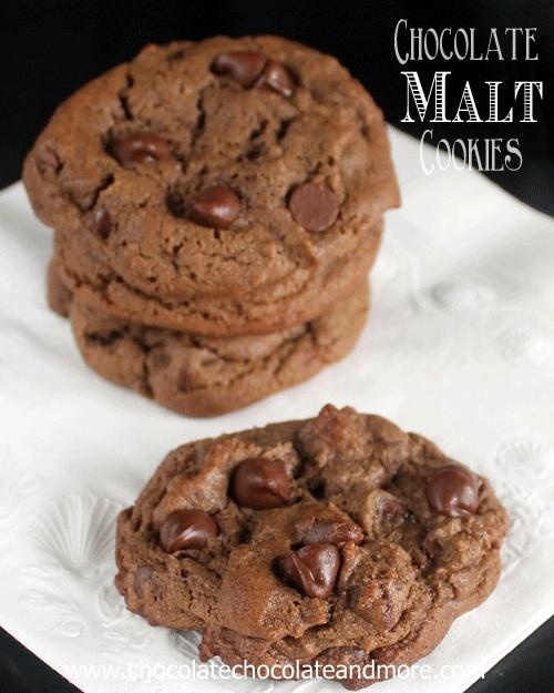 Chocolate Malt Cookies with Chocolate Chips | Chocolate, Chocolate and more...