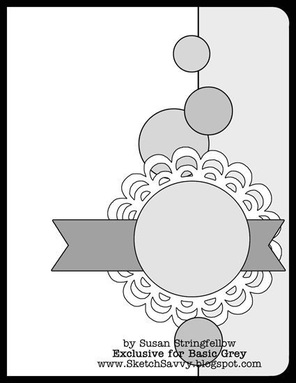 BasicGrey Card Sketch | Susan Stringfellow