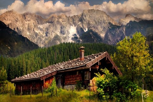 Lonesome cottage in the Black Forest Mountains, Germany.  Photos by mjb_germany