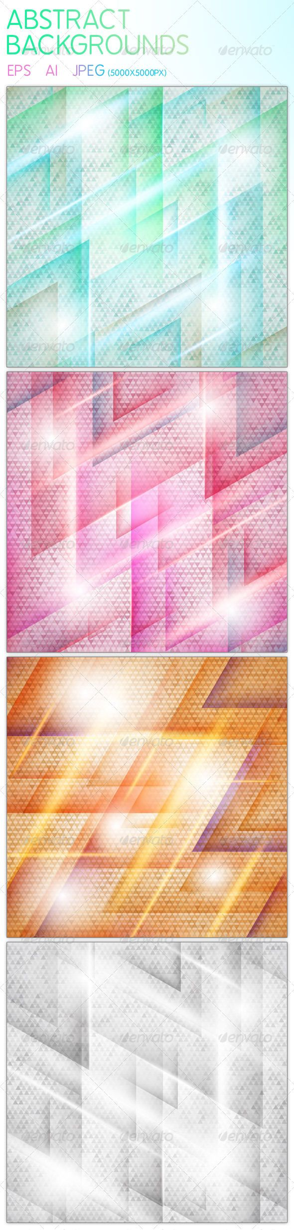 wedding card backgrounds vectors%0A   Abstract Vector Triangle Backgrounds