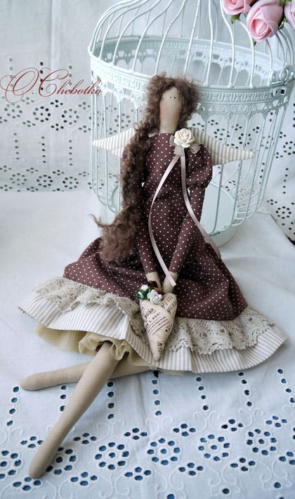 Куклы Тильды ручной работы. Ярмарка Мастеров - ручная работа Шоколадница…