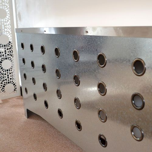 Galvanised radiator covers from Modern Radiator Covers
