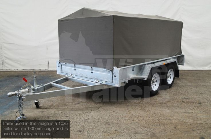 Canvas Cover 10x5 900mm for Box trailer. Contact for shipping to Sydney, Brisbane or anywhere else in Australia. Come see our range of Trailers today!