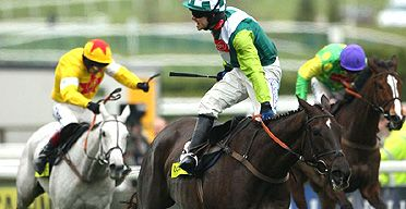 My favourite horse the brilliant Denman winning the 2008 Gold Cup