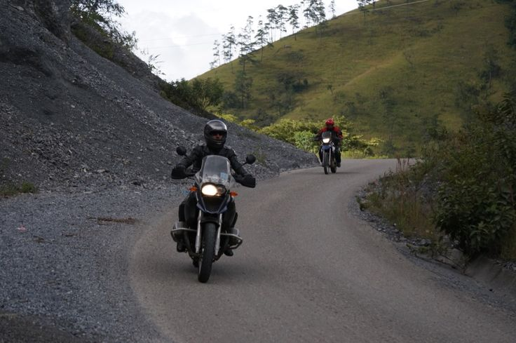 """Watch out for rock slides: Our Ferris Wheels Motorcycle Safaris Tacos 'n' Tequila tour has entered exciting Guatemala. Check out the Mexico pix at https://www.pinterest.com/MotorbikeWriter/ferris-wheels-motorcycle-safaris-tacos-n-tequila-t/ or go to motorbikewriter.com and search for """"Mexico"""" or """"Guatemala""""."""