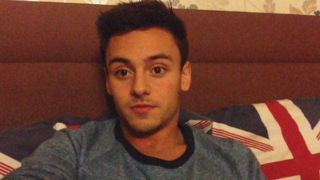 "British Olympic diving star Tom Daley, came ""out"" during an interview on YouTube"