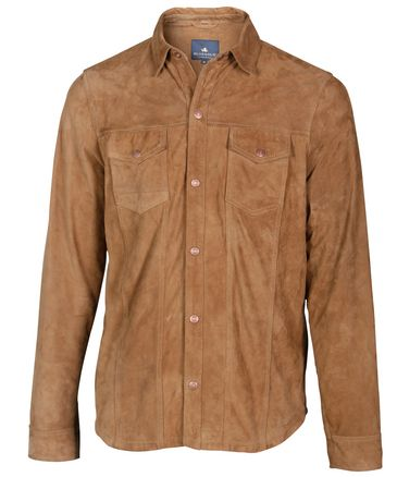 Brown suede shirt for men / Bruin suède overhemd voor heren - Don | BLUEGOLD http://www.bluegold.nl/bruin-suede-overhemd-heren-Don/