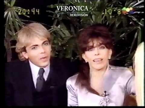 Cristian y Verónica en el programa Hola Susana 1999.