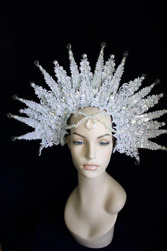La reina de las Nieves las gotas de Halo tocado de por Mascherina