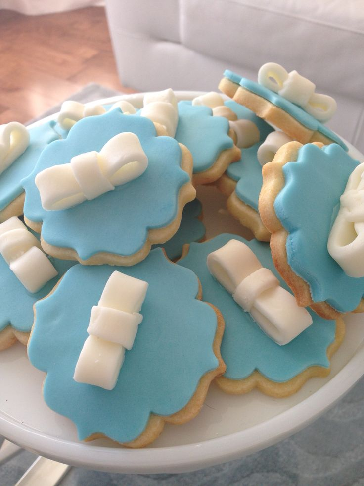 Tiffany themed butter cookies
