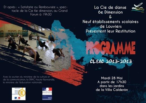 Les élèves de #Louviers vous propose de venir assister ce soir, à 17h30 à la Villa Calderón à la restitution des travaux de danses créés avec La Cie 6ème Dimension