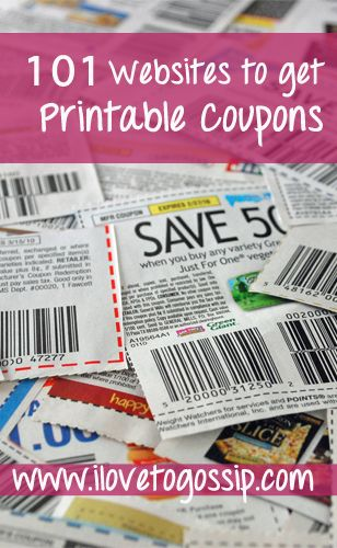 101 Websites To Get Free Printable Coupons - Huge List