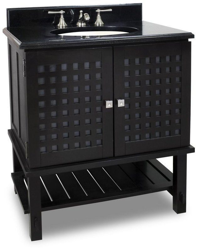 Pics On Hardware Resources Manhattan Espresso Vanity with Preassembled Top and Bowl from Lyn Design