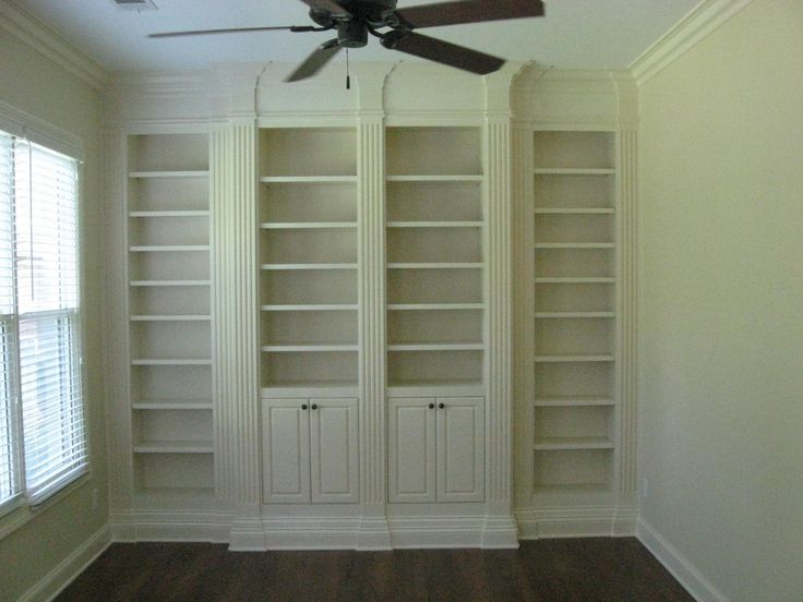 Custom Made Bookcase With Fluted Columns Bookshelves