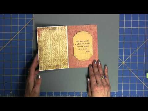 make amazing embossed metallic paper using your Cuttlebug and Duct tape