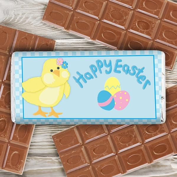 79 best personalised easter gifts images on pinterest easter personalised easter chick milk chocolate bar the hut market personalised gift shop negle Choice Image