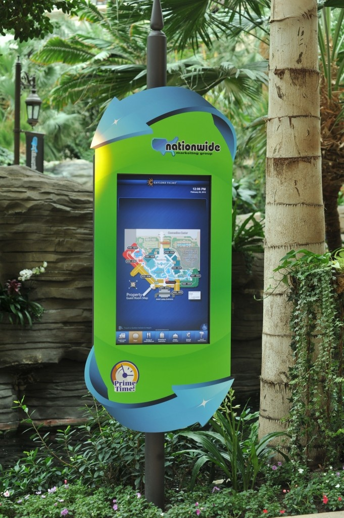 Branded interactive kiosk signage