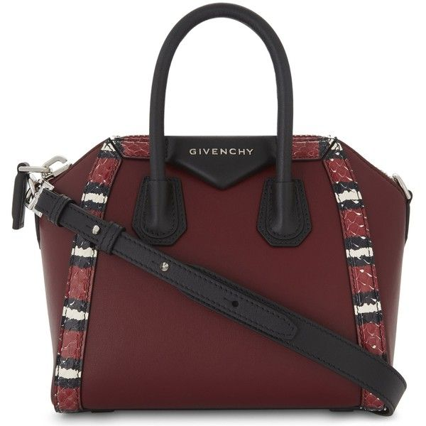 608f32ff73 Givenchy Antigona mini leather and snakeskin tote (48 665 UAH) ❤ liked on  Polyvore featuring bags