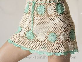 Katrinshine: Crochet beach dress cover-up