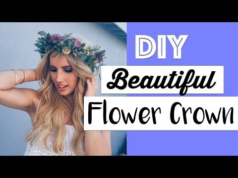 DIY: How to Make a Flower Crown - Simple Way! - YouTube