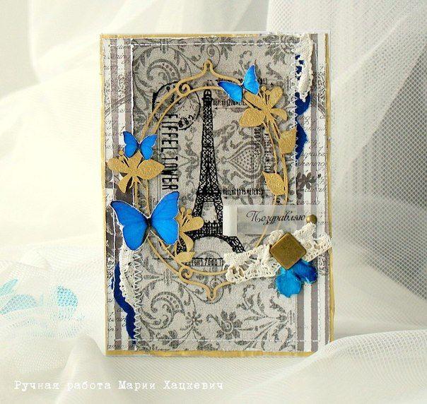 Spread Ypur Wings Card _ Donna Salazar Designs - 4-й этап СП Чтобы не пропустить весну