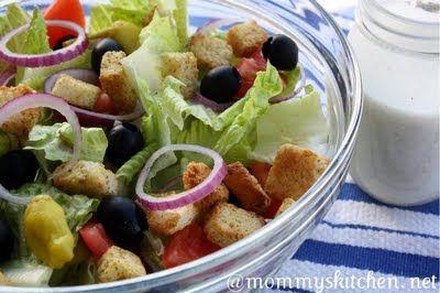 Olive Gardens House Salad & Dressing