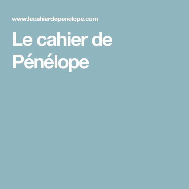 Le cahier de Pénélope