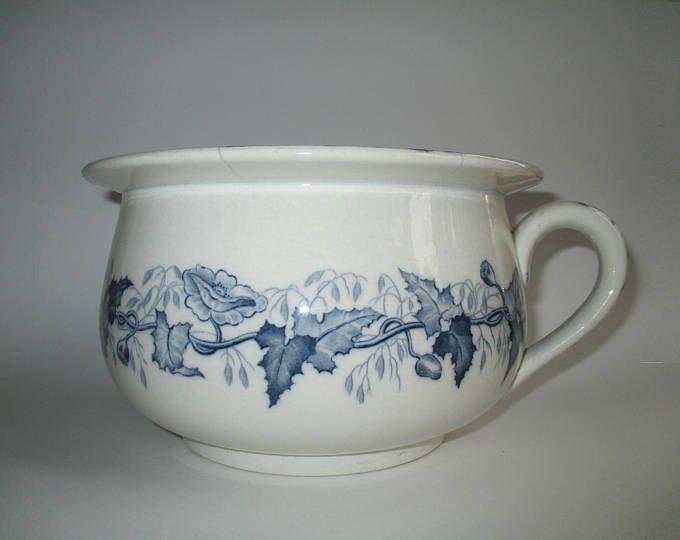 Pot De Chambre Ancien Sarreguemines U C Bleu Pavot Traditional Wedding Gifts Etsy Finds Pot De