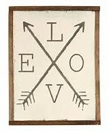 Love' With Arrows Wall Sign