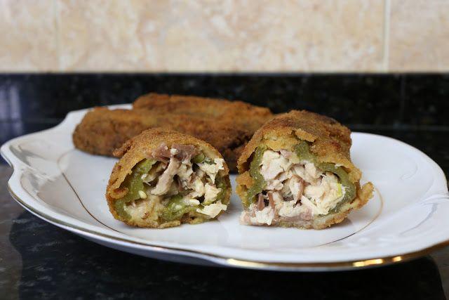 Buena cocina mediterranea: Pimientos verdes rellenos de carne