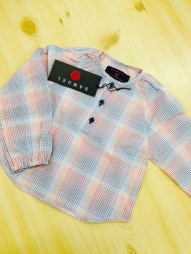 Girls multicolor checked shirt matching boys Samuel jr