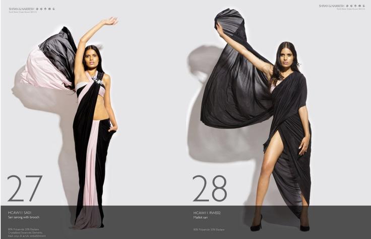 #Muslim at the #beach? Bikini Sari Makes Modest Swimwear FabulousShivan, Black Saris, Modest Swimwear, Narresh, Looks Book, At The Beach, Bikinis Saris, Bikinisari, Pink Black