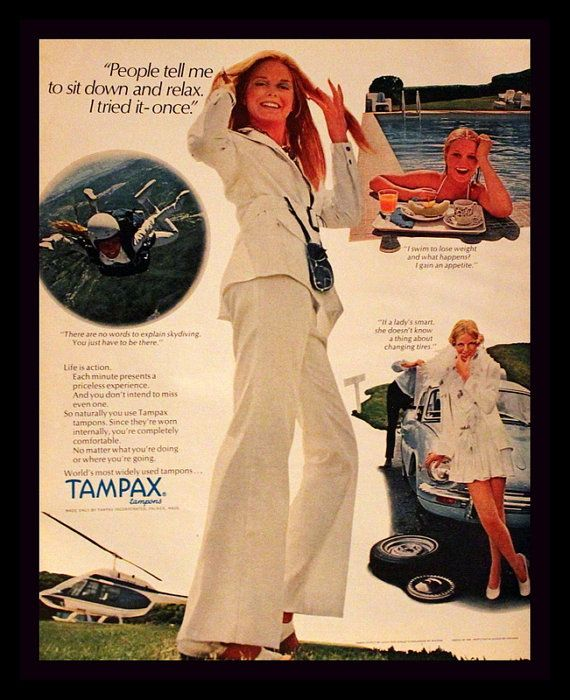 1970 tampax tampons ad wall art bath decor by for Bathroom accessories ads
